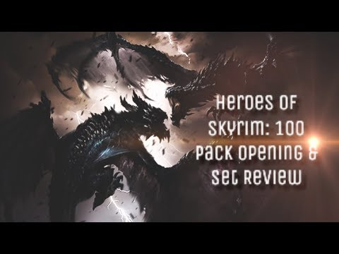 Heroes of Skyrim - Card Reviews + 100 Pack Opening!   Elder Scrolls Legends