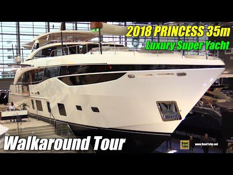 2018 Princess 35m Luxury Super Yacht - Walkaround - 2018 Boot Dusseldorf Boat Show