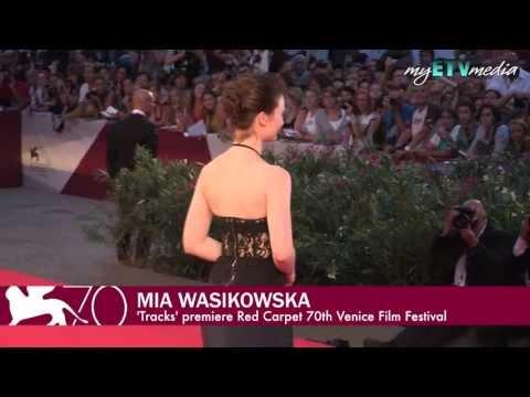 Mia Wasikowska and John Curran on the Red Carpet (70th Venice International Film Festival)