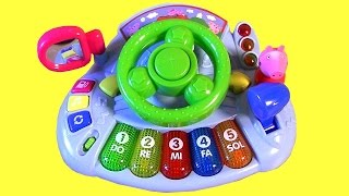 Drive Peppa Pig Car Piano Driver with Songs Lights 'n Sounds Juguete de Pocoyo Volante Musical