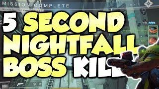 5 SECOND NIGHTFALL BOSS KILL! [Destiny 2] The Arms Dealer