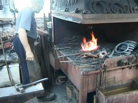 forging mooring rings out of old wrought iron