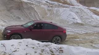 bmw x6  in sand