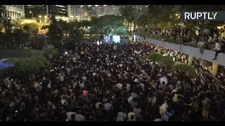 Rally draws thousands of protesters to Hong Kong's Chater Garden