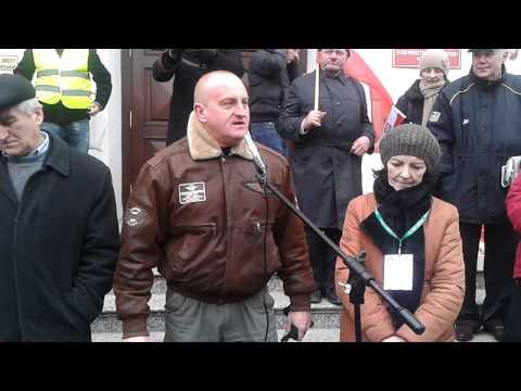 Marian Kowalski RN - Pikieta NSZZ RI Solidarność W Lublinie