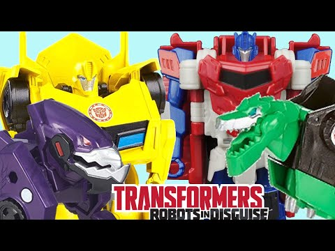 TRANSFORMERS Robots in Disguise Optimus Prime Bumblebee Grimlock Steeljaw Sideswipe Brinquedos Video