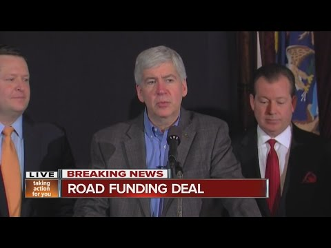 Governor Snyder announces road funding deal