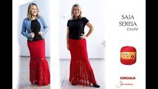 Saia em Crochê - Saia Sereia - passo a passo - Professora Simone Eleotério