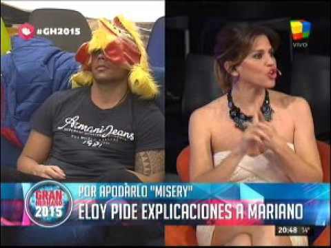 """#GH2015: Eloy se enteró que lo llaman """"Misery"""" y confrontó a Mariano"""