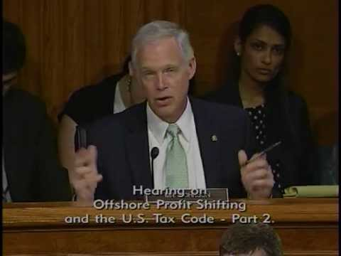 Senator Johnson Discusses Corporate Taxes with Witnesses Representing Apple
