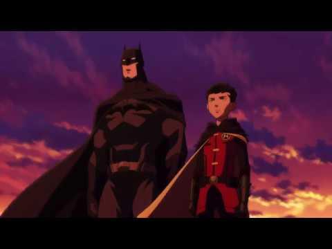 Талия Аль Гул оставляет Дэмиана под опеку Брюса Уэйна. Последняя сцена. (Сын Бэтмена 2014)