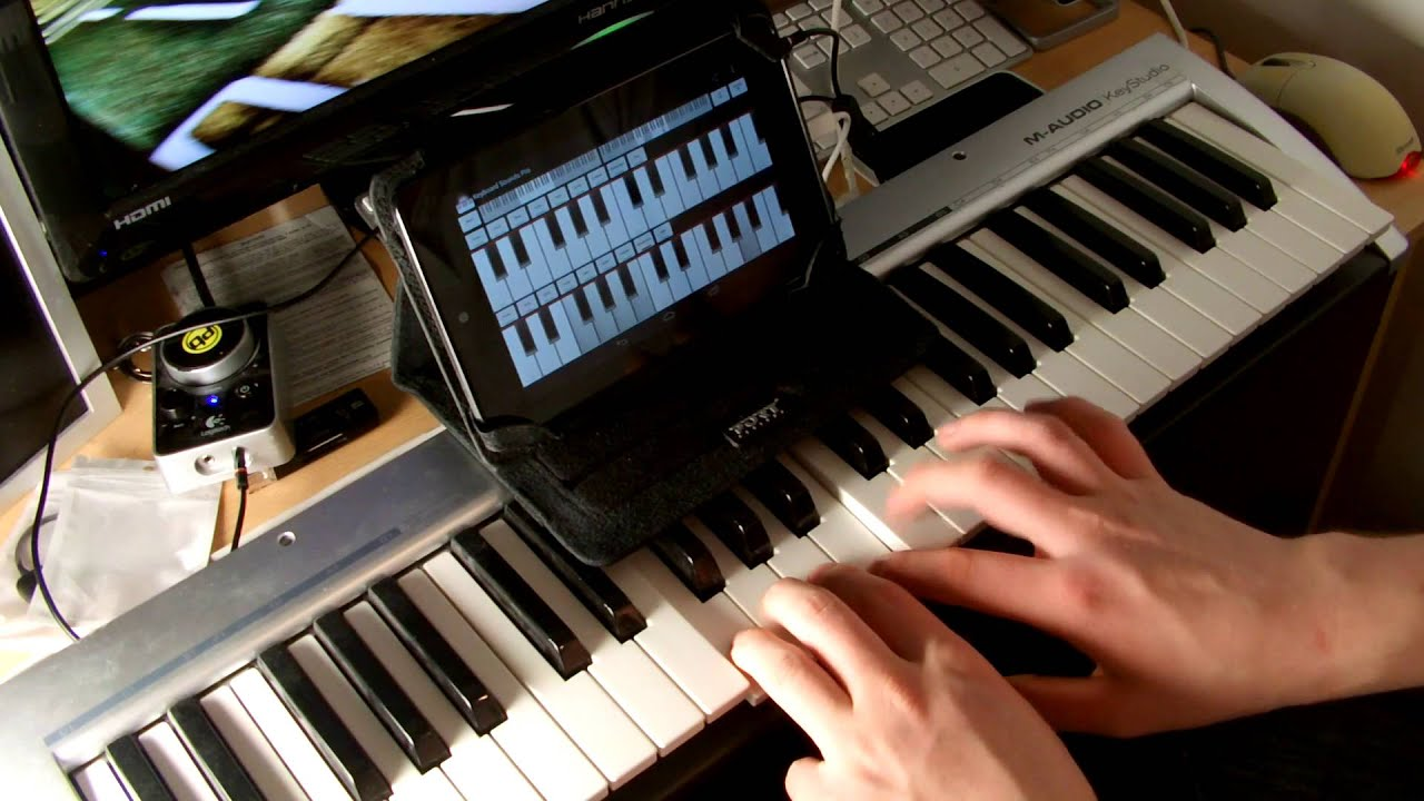 Midi Keyboard On Nexus 7 Though Usb On The Go Otg Android