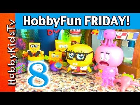 Hobbyfun Friday Part 8: Spongebob In Bikini Bottom, Disney Princess, Nickelodeon Hobbykidstv video