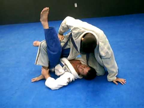 bjj (brazilian jiu jitsu) deep half guard sweep to back (Robson Moura style) Image 1