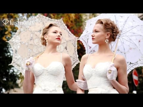 Wedding Couture by Galia Lahav 2012: Beautiful Twins in Bridal Gowns | FashionTV