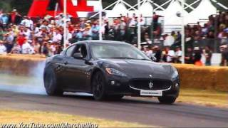 Maserati Granturismo S MC Sport Line Burnout and Acceleration