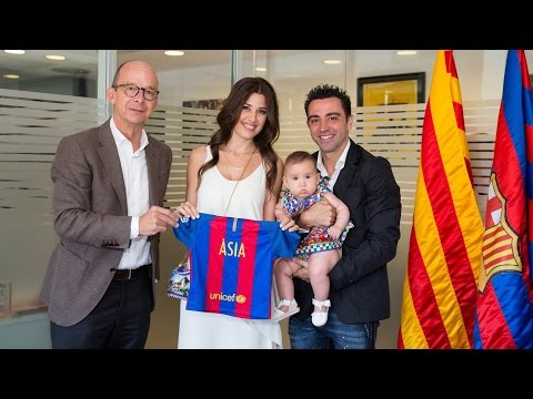 Xavi Hernández's daughter becomes an FC Barcelona member
