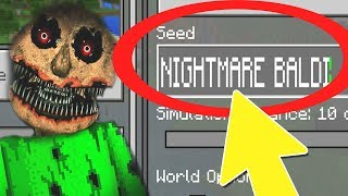 "NEVER Play Minecraft NIGHTMARE BALDIS BASICS WORLD! (Haunted ""Baldi's Basics in Education"" Seed) v2"