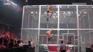 John Cena & Randy Orton On Top Of Hell In A Cell