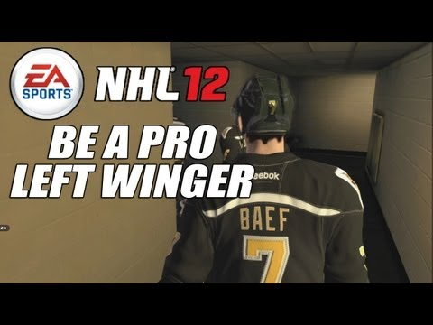 NHL 12 Be a Pro Left Winger - Player Creation and 1st Game