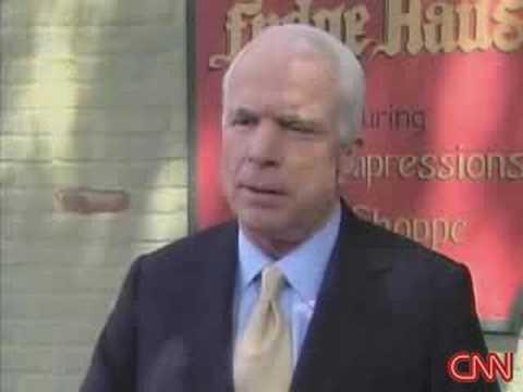 McCain speaks at German eatery