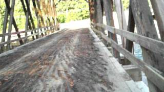 Rambo Bridge in Hope BC. Last day before demolition, Aug.7, 2011
