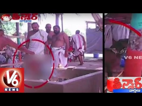 Brahmins Oblation Goats For Soma Yaga Homam   Teenmaar News   V6 News