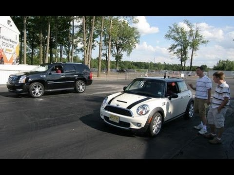 Cadillac Escalade vs. Mini Cooper S - Car and Driver Video