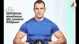 Ivan Denisov kettlebell & barbell workout  march 23. Jerk and squat and jump squat