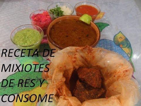 RECETA DE RICOS MIXIOTES DE RES ( LOS ANGELES COCINAN )