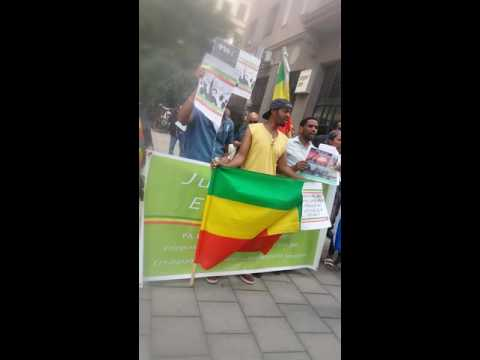 Demonstration In Front Of Ethiopian Embassy In Stockholm July 28 2016
