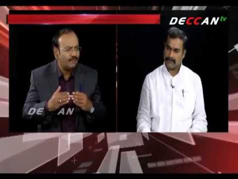 ONE to ONE – BJP SPOKES PERSON SRIDHAR REDDY WITH EMINENT EDITOR SATHISH CHANDAR -DECCAN tv 18-58-15 Photo Image Pic