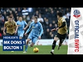 Milton Keynes Bolton goals and highlights