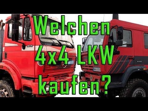 Welchen Allrad-LKW fürs Expeditionsmobil kaufen? Steyr 18S28 oder Mercedes-Benz SK 1831 - E8