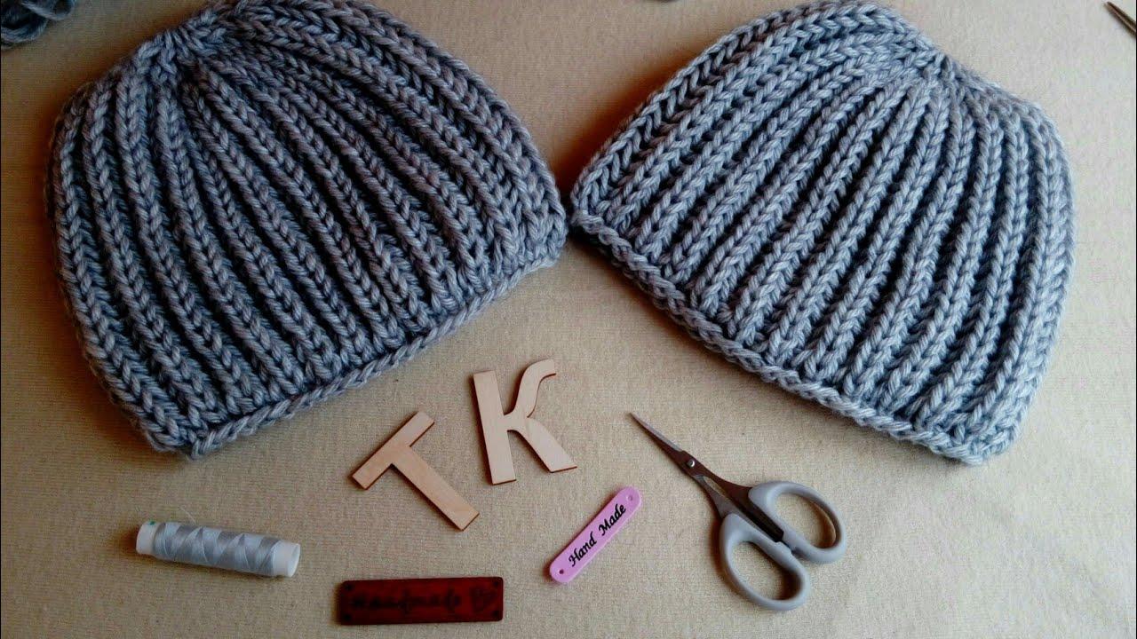 Как закончить вязание шапки английской резинкой 27