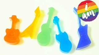 DIY How to make Colors Rainbow Guitar Jelly Pudding Gummy GingerBread Jelly Pudding Rainbow Toy kid