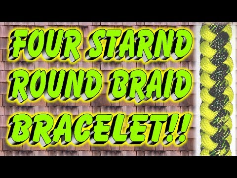 How To Make A Paracord Four Strand Round Braid Bracelet