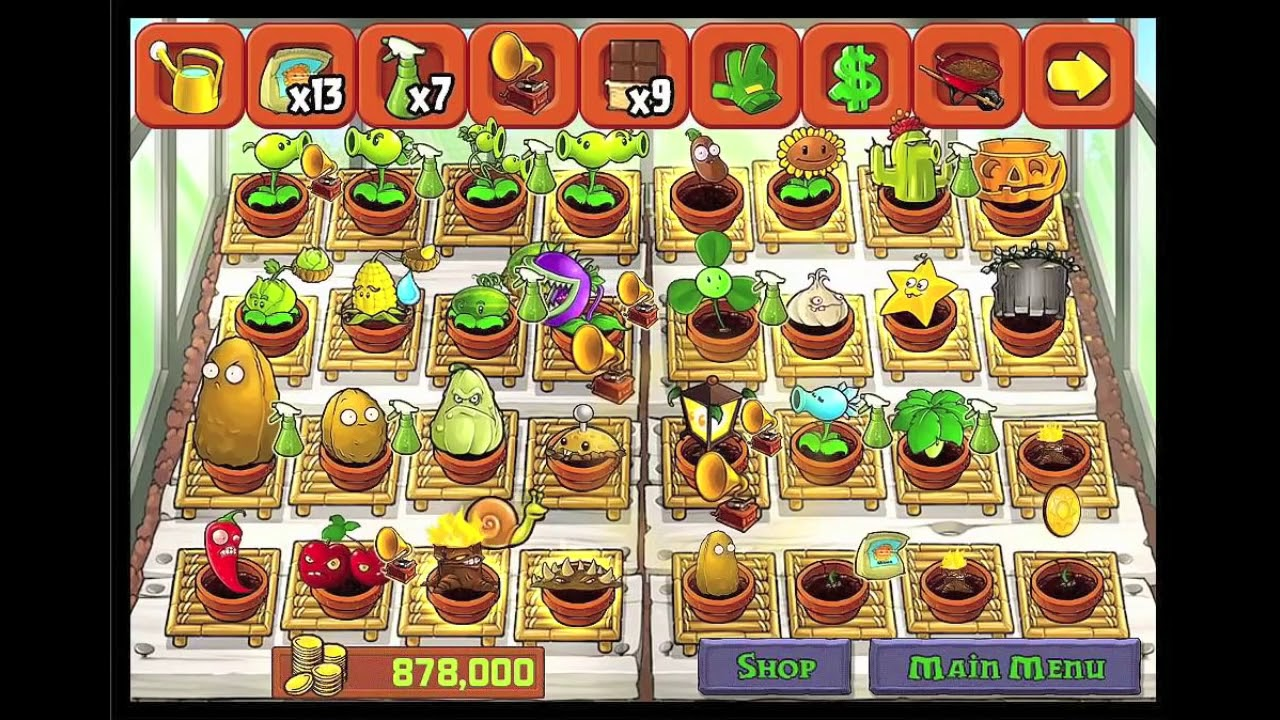 Plants vs Zombies Zen Garden Zen Garden All Plants