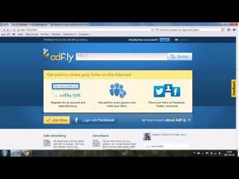 Jak Szybko Zarobić Przez Internet Za Pomocą Adf.ly (zarabianie W Domu)