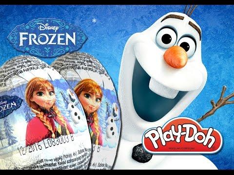DISNEY FROZEN 3D Play Doh Surprise Eggs Olaf Elsa Anna Chocolate Sorpresa Huevos Ovetti DTSE