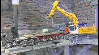 RC EXCAVATOR LIEBHERR 970! STRONG MERCEDES-BENZ AWD! FANTASTIC RC CRANE! RC LIVE ACTIOIN! VOLVO 2017