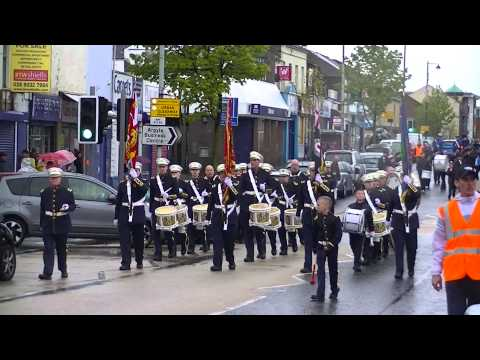 Pride Of Ardoyne FB & Shankill Protestant Boys FB @ LPA Parade 2013