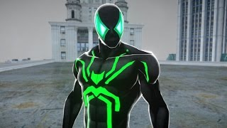 Green & Black Spiderman - Spider-man Suit