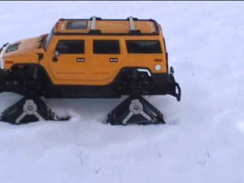 Radio Controlled Hummer with Mattracks on Snow
