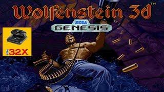 Wolfenstein 3D no Mega Drive e 32X Hardware real teste