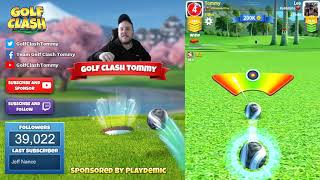 Golf Clash tips, Playthrough, Hole 1-9 - EXPERT - TOURNAMENT WIND! Tropic Kings Tournament!