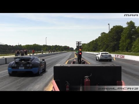 bugatti veyron vs 1000hp nissan gt r r35 1 4 mile how to save money and do. Black Bedroom Furniture Sets. Home Design Ideas