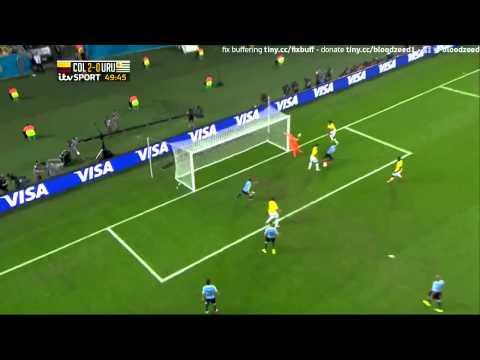 Colombia 2 Uruguay 0 James Rodriguez Carlos Alberto Morales