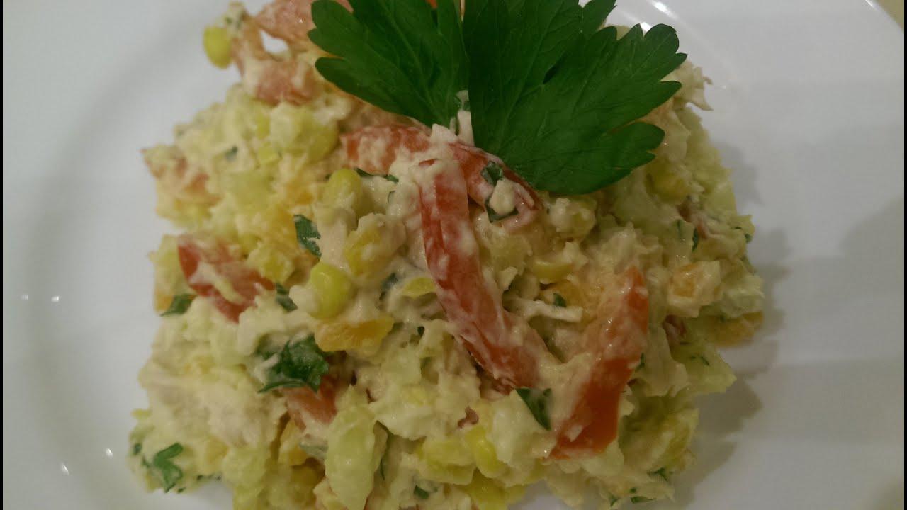 Очень вкусный салат с курицей рецепт с