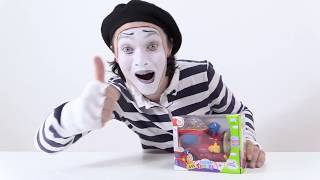 Funny videos for kids. Mime Alex, the Light Train, superheroes and villains